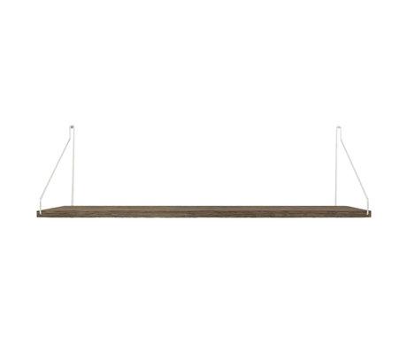 Frama Shelf wall shelf Dark stainless steel wood 27x80x16cm