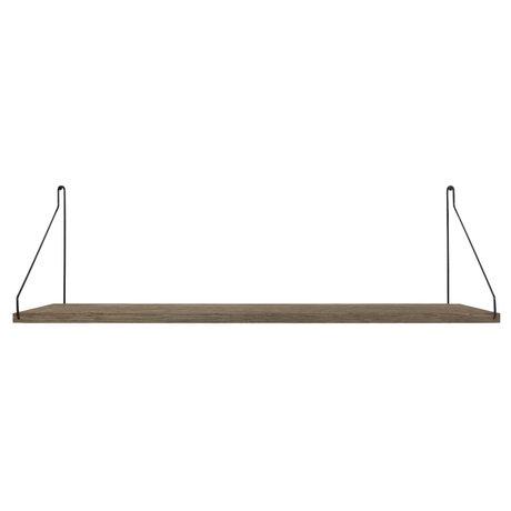 Frama Wandplank Shelf Donker zwart hout 27x80x16cm