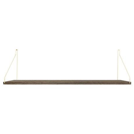 Frama Wandplank Shelf Donker goud hout 27x80x16cm