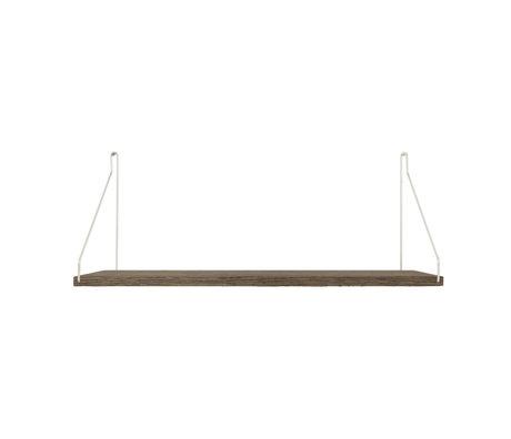 Frama Wandplank Shelf Donker roestvrij staal hout 27x60x16cm