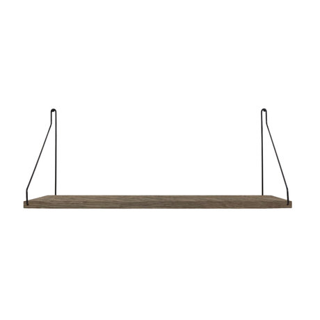 Frama Wandplank Shelf Donker zwart hout 27x60x16cm