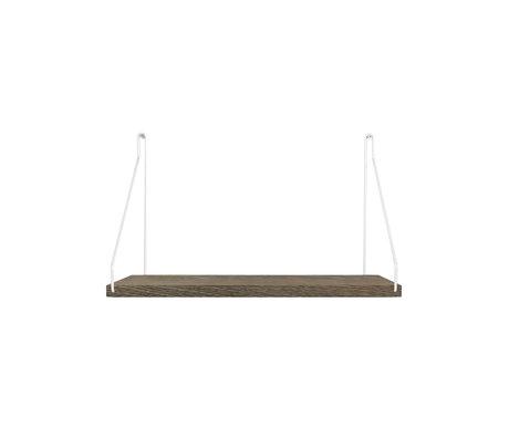 Frama Wandplank Shelf Donker roestvrij staal hout 27x40x16cm
