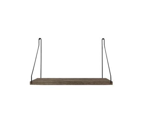 Frama Wandplank Shelf Donker zwart hout 27x40x16cm
