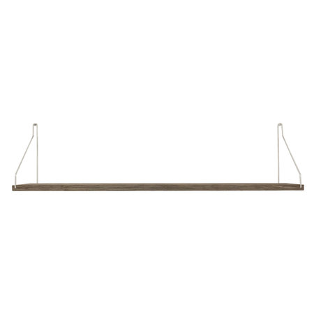 Frama Wandplank Shelf Donker roestvrij staal hout 20x80x16cm