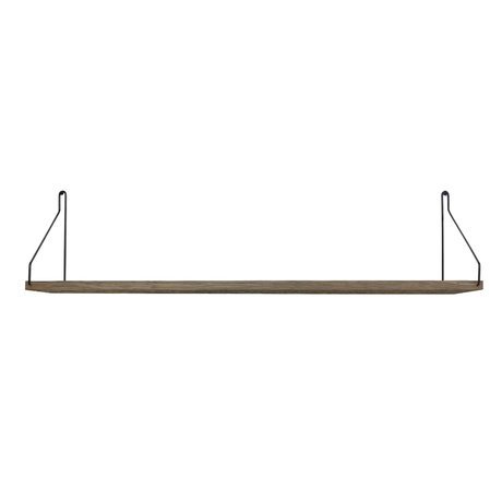 Frama Wandplank Shelf Donker zwart hout 20x80x16cm