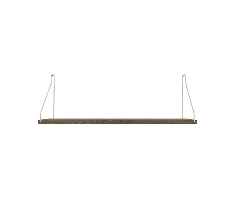 Frama Wandplank Shelf Donker roestvrij staal hout 20x60x16cm
