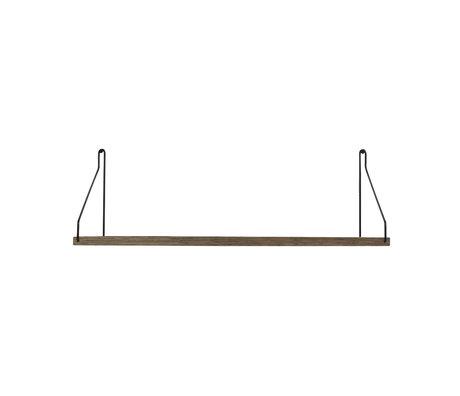 Frama Wandplank Shelf Donker zwart hout 20x60x16cm