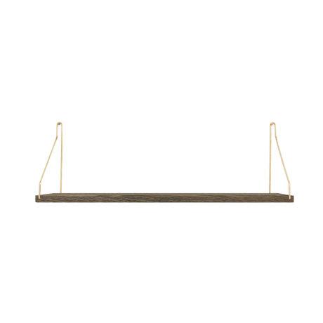Frama Wandplank Shelf Donker goud hout 20x60x16cm