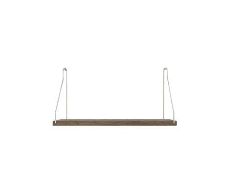 Frama Wandplank Shelf Donker roestvrij staal hout 20x40x16cm