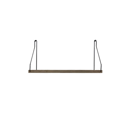 Frama Wandplank Shelf Donker zwart hout 20x40x16cm