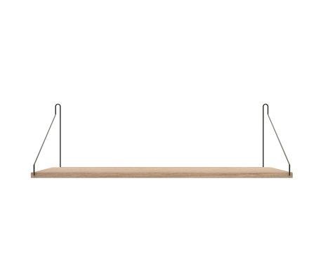 Frama Wandplank Shelf Wit zwart hout 27x80x16cm