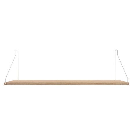 Frama Wandplank Shelf Wit roestvrij staal hout  27x80x16cm