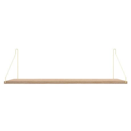 Frama Wandplank Shelf Wit goud hout 27x80x16cm