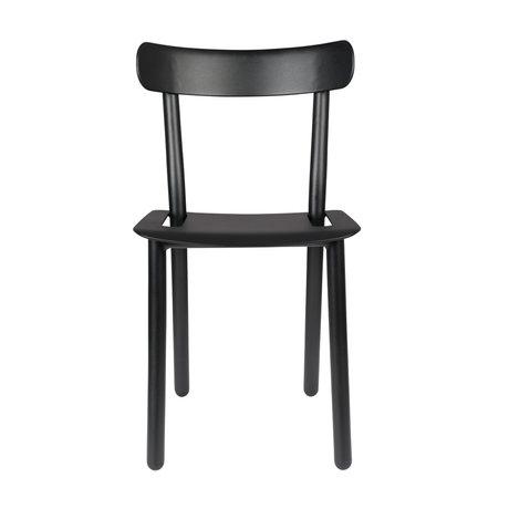 Zuiver Chaise de jardin Friday en aluminium noir 51x46x82cm