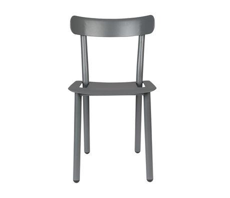 Zuiver Tuinstoel Friday grijs aluminium 51x46x82cm