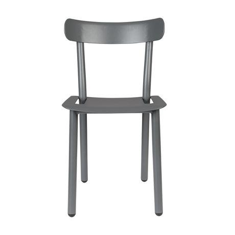 Zuiver Chaise de jardin Friday gris aluminium 51x46x82cm