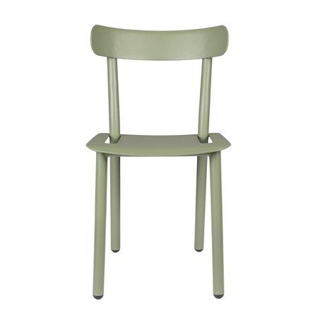 Zuiver Chaise de jardin Friday vert aluminium 51x46x82cm