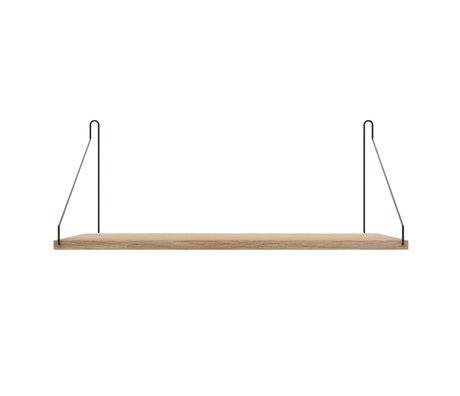 Frama Wall shelf Shelf White black wood 27x60x16cm