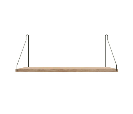 Frama Wandplank Shelf Wit zwart hout 27x60x16cm