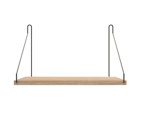 Frama Wandplank Shelf Wit zwart hout 27x40x16cm