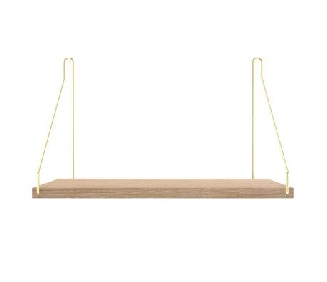 Frama Wandplank Shelf Wit goud hout 27x40x16cm