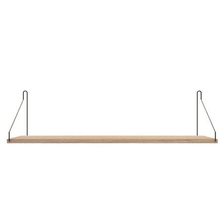 Frama Wandplank Shelf Wit zwart hout 20x80x16cm