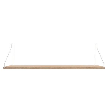 Frama Wandplank Shelf Wit roestvrij staal 20x80x16cm