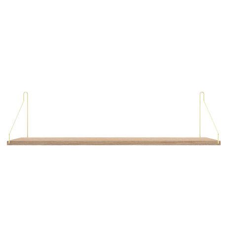Frama Wandplank Shelf Wit goud hout 20x80x16cm