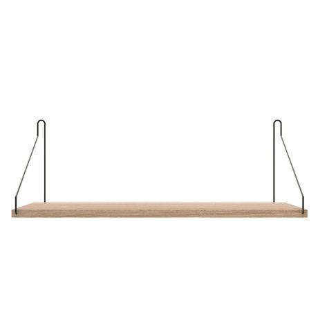 Frama Wandplank Shelf Wit zwart hout 20x60x16cm