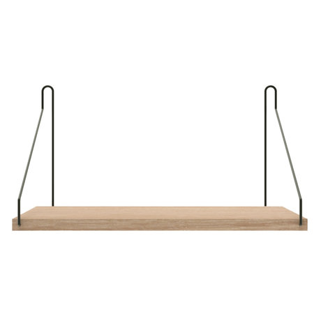 Frama Wandplank Shelf Wit zwart hout 20x40x16cm