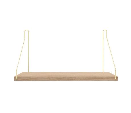 Frama Wandplank Shelf Wit goud hout 20x40x16cm