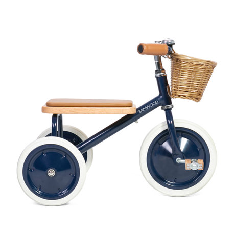 Banwood Kinderfiets Trike donkerblauw staal hout 45x35x63cm