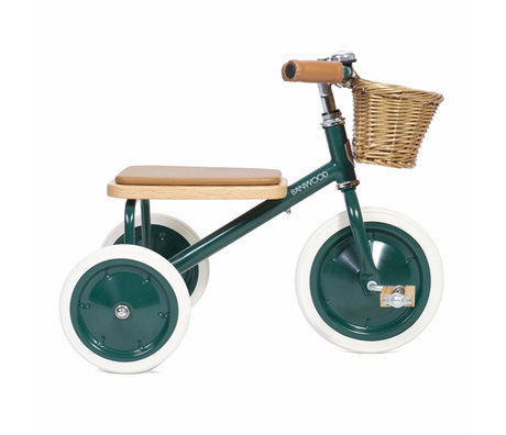 Banwood Kinderfiets Trike groen staal hout 45x35x63cm