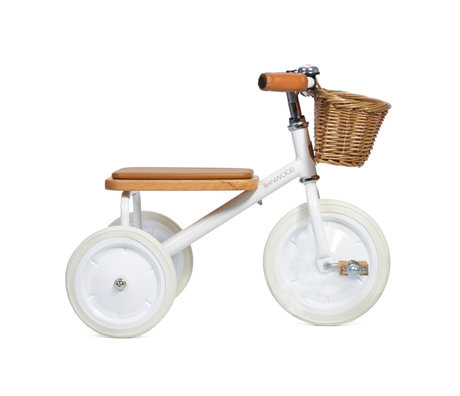 Banwood Kinderfiets Trike wit staal hout 45x35x63cm