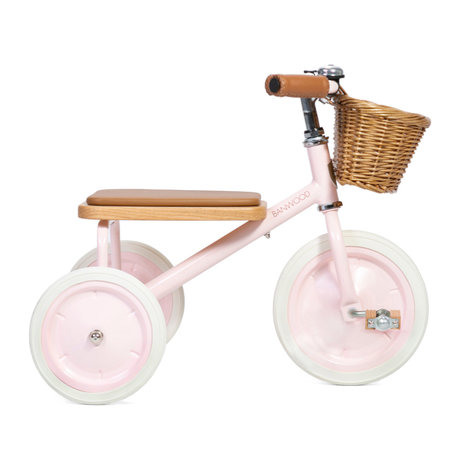 Banwood Kinderfiets Trike roze staal hout 45x35x63cm