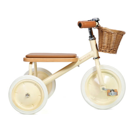 Banwood Kinderfiets Trike zachtgeel staal hout 45x35x63cm