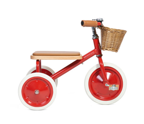 Banwood Kinderfiets Trike rood staal hout 45x35x63cm