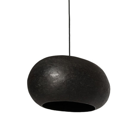 Ay Illuminate Hanglamp Pebble large zwart karton 45x36x25cm