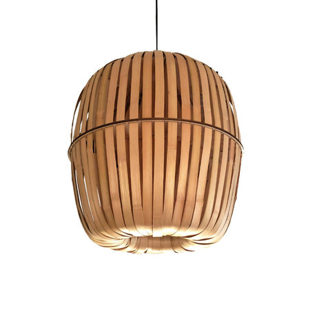 Ay Illuminate Hanglamp Wren medium naturel bamboe Ø44x52cm