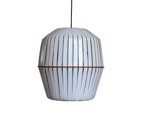 Ay Illuminate Hanglamp Kiwi medium wit aluminium Ø44x48cm