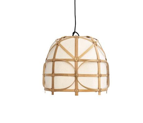 Ay Illuminate Hanglamp Bagobo R small naturel bamboe Ø39x35cm