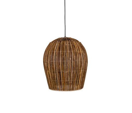 Ay Illuminate Hanglamp Rattan Bulb small bruin rotan Ø54X63cm