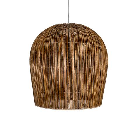 Ay Illuminate Hanglamp Rattan Bulb large bruin rotan Ø91x95cm