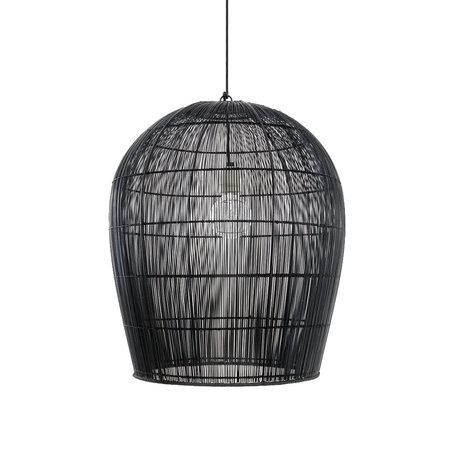Ay Illuminate Hanglamp Buri Bulb small zwart hout Ø54X63cm