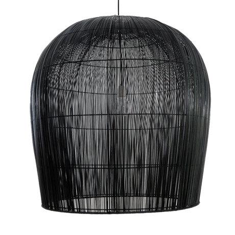 Ay Illuminate Hanglamp Buri Bulb large zwart hout Ø91x95cm