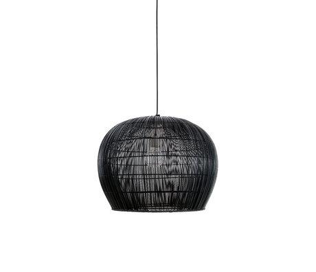 Ay Illuminate Hanglamp Buri Bell small zwart hout Ø63x47cm