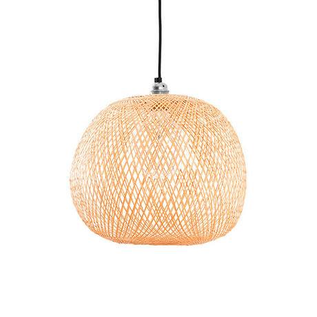 Ay Illuminate Hanglamp Plum small naturel bamboe Ø34x31cm