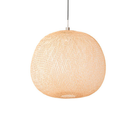 Ay Illuminate Hanglamp Plum medium naturel bamboe Ø55x48cm