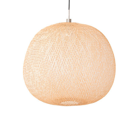Ay Illuminate Hanglamp Plum large naturel bamboe Ø80x70cm