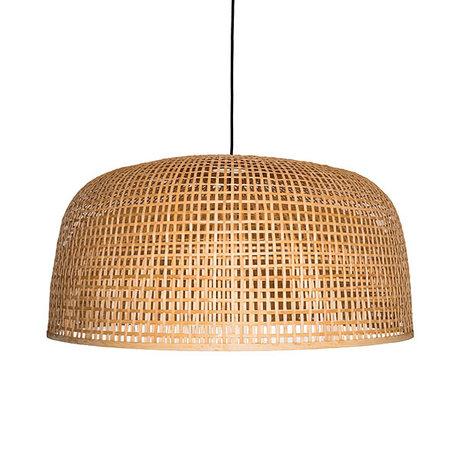Ay Illuminate Hanglamp Doppio Grid naturel bamboe Ø80x42cm